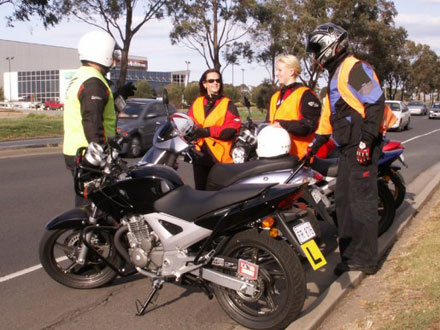 Learner riders getting used to Victoria's new Graduated Licensing System (GLS)